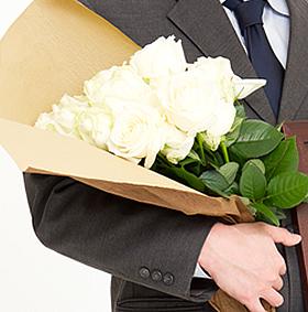 退職・転勤のお祝いのバラの花束