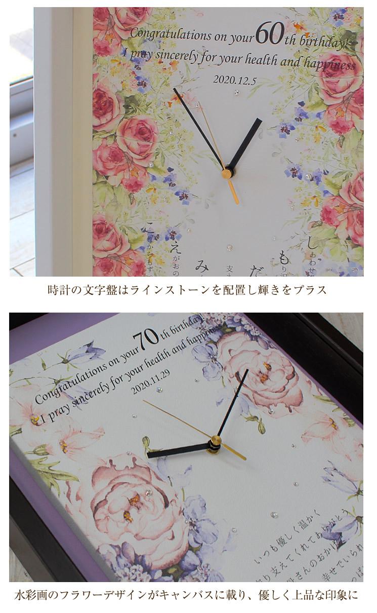 名入れキャンバス時計(ボックスタイプ) 仕様2