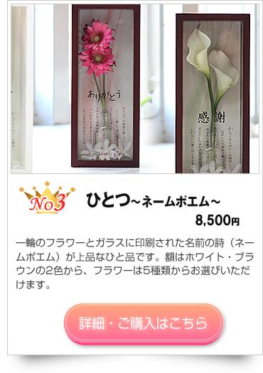 銀婚式のプレゼント ひとつ〜ネームポエム〜