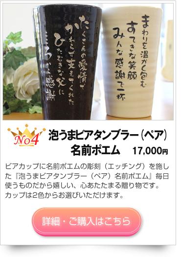 銀婚式に贈るプレゼント 名入れ焼酎カップ(ペア)