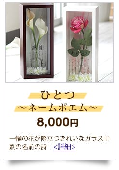 10,000円までの予算 人気の名前の詩 ひとつ〜ネームポエム〜