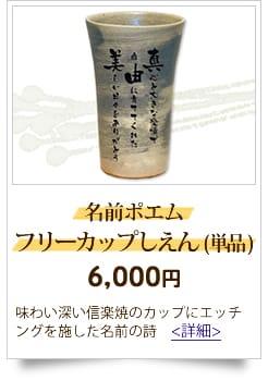 10,000円までの予算 人気の名前の詩 名前ポエムフルーカップしえん(単品)