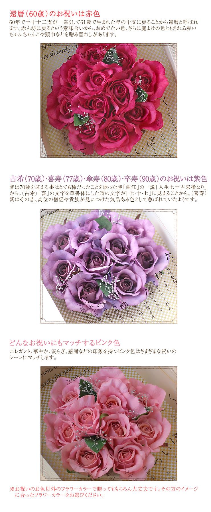 ロイヤルフラワーBOX 〜ネームポエム〜 ポイント2