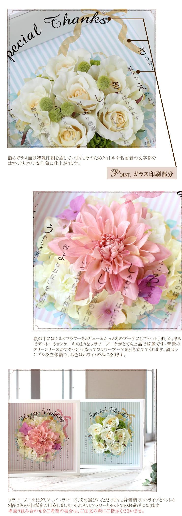 フラワーケーキ 〜ネームポエム〜 ポイント1