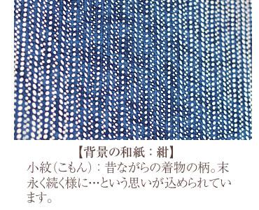 背景:紺 小紋