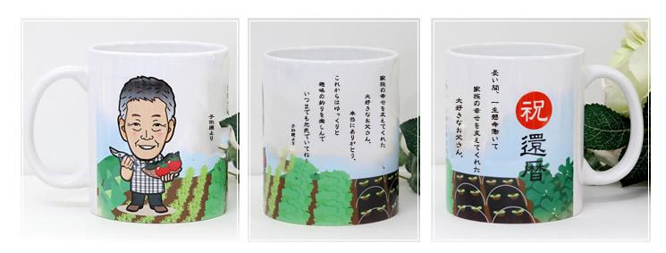 似顔絵マグカップ・メッセージマグカップ・名入れマグカップ