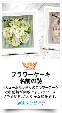 花好きの方への退職祝いにフラワーケーキ〜ネームポエム〜
